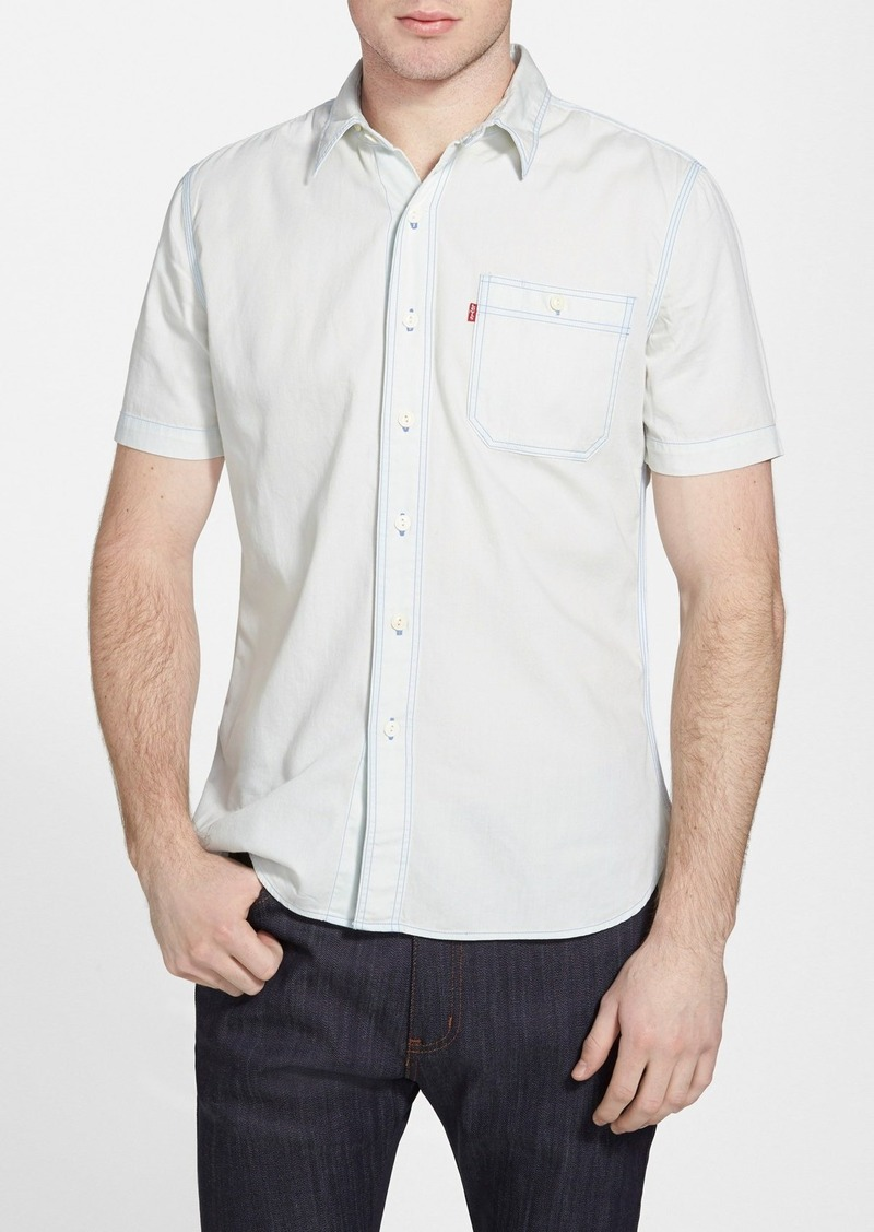 Levi 39 s levi 39 s trim fit short sleeve utility woven shirt for Levi s short sleeve shirt