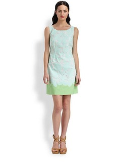 Lilly Pulitzer Capricia Two-Tone Eyelet Dress