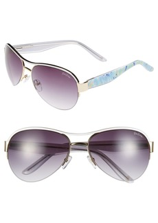 Lilly Pulitzer 'Carlee' 58mm Aviator Sunglasses