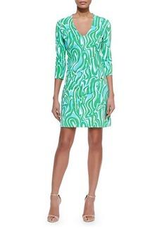 Lilly Pulitzer Charlena Printed Ponte Shift Dress  Charlena Printed Ponte Shift Dress
