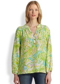 Lilly Pulitzer Silk Elsa Floral Top