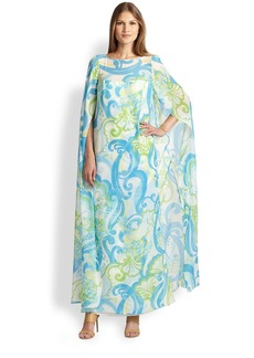 Lilly Pulitzer Silk Kingston Maxi Caftan