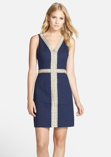 Lilly Pulitzer® 'Bentley' Embroidered Cotton Sheath Dress