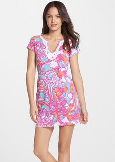 Lilly Pulitzer® 'Brewster' Contrast Trim Print T-Shirt Dress