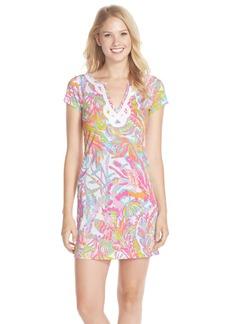 Lilly Pulitzer® 'Brewster' Contrast Trim Print T-Shirt Dress