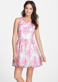 Lilly Pulitzer® 'Darcelle' Embroidered Organza Fit & Flare Dress
