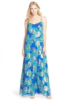 Lilly Pulitzer® 'Dusk' Print Silk Blend A-Line Maxi Dress