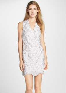 Lilly Pulitzer® 'Estella' Metallic Eyelet Scalloped Shift Dress
