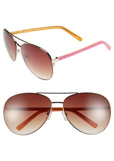 Lilly Pulitzer® 'Finley' 65mm Aviator Sunglasses