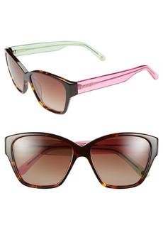 Lilly Pulitzer® 'Flora' 57mm Polarized Sunglasses