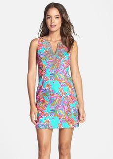 Lilly Pulitzer® 'Gabby' Embellished Print Cotton Shift Dress