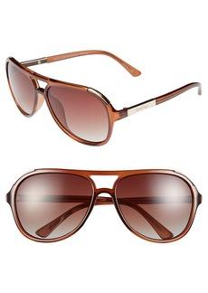 Lilly Pulitzer® 'Hallie' 61mm Aviator Sunglasses