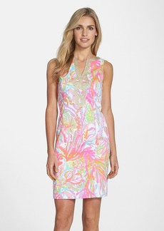 Lilly Pulitzer® 'Janice' Soutache Trim Print Shift Dress