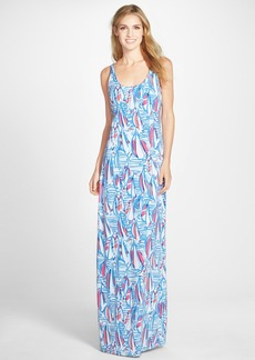 Lilly Pulitzer® 'Palm' Bow Back Print Maxi Dress