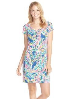 Lilly Pulitzer® 'Palmira' Print Button Front Pima Cotton T-Shirtdress