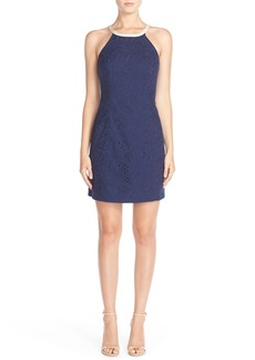 Lilly Pulitzer® 'Pearl' Floral Eyelet Cotton Shift Dress