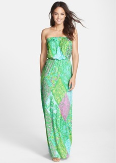 Lilly Pulitzer® Print Jersey Strapless Blouson Maxi Dress