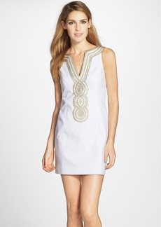Lilly Pulitzer® 'Valli' Metallic Soutache Shift Dress