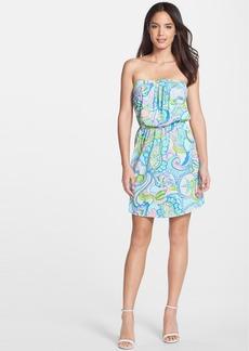 Lilly Pulitzer® 'Windsor' Print Cotton Strapless Blouson Dress