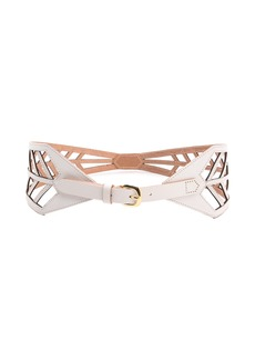 Linea Pelle Chevron Lattice Waist Belt