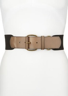 Linea Pelle Slate Elastic Stretch Belt, Black