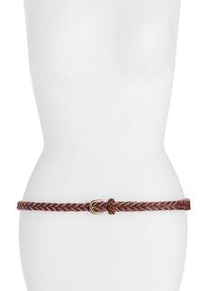 Linea Pelle Slim Braided Leather Belt