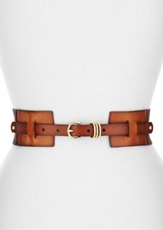 Linea Pelle Stretch Twill/Leather Belt, Whisky