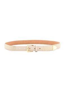 Linea Pelle Studded Metal Tip Belt
