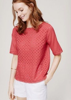 Blocked Eyelet Blouse