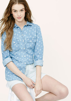 Breezy Floral Chambray Softened Shirt