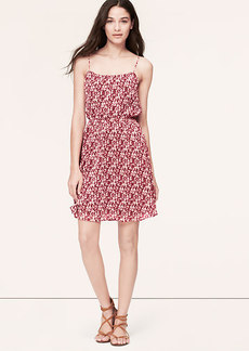 Clover Print Chiffon Cami Dress