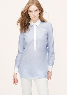 Colorblock Henley Tunic Softened Shirt