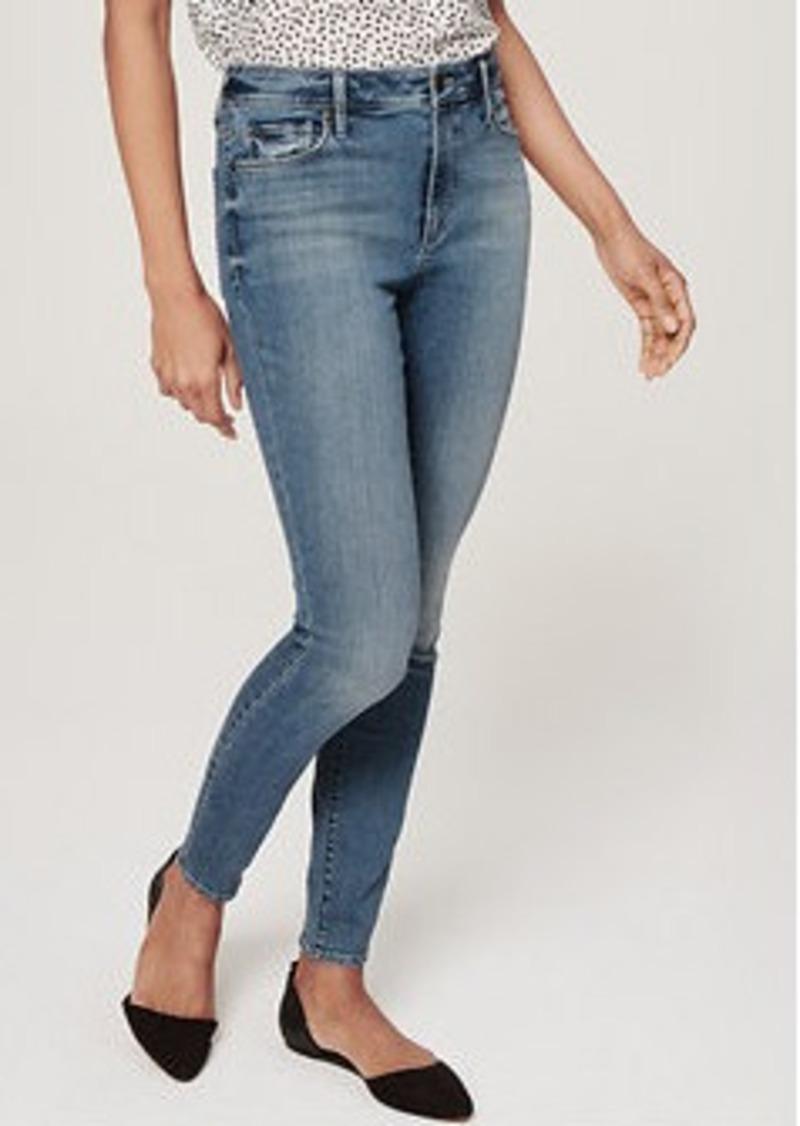 Loft Curvy High Waist Skinny Ankle Jeans In Palette Blue