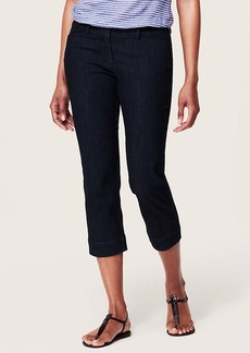 Curvy Non 5-Pocket Cropped Jeans in Dark Rinse Wash