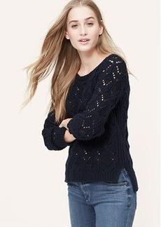 Diamond Pointelle Sweater