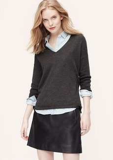 Drapey V-Neck Sweater
