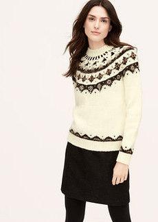 Embellished Fair Isle Sweater