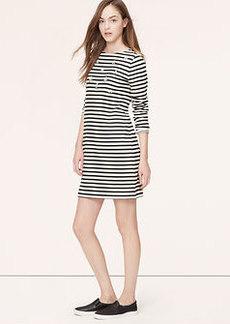 Embellished Stripe Sweatshirt Dress