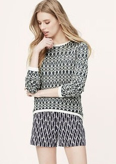 Geo Elliptical Hem Sweater