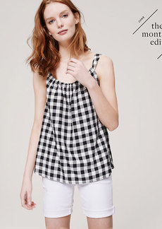 Gingham Shirred Cami