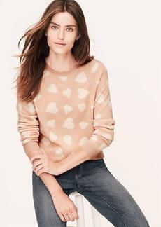 Heart Print Jacquard Sweater
