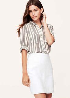 Herringbone Linen Shift Skirt