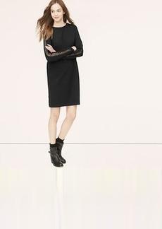 Lacy Sleeve Sweatshirt Dress