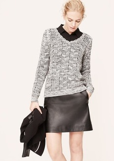 Marled Scallop Neck Sweater