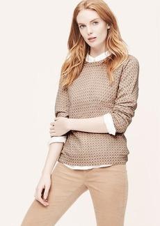 Mosaic Print Sweater