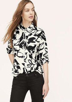 Painted Floral Utility Blouse