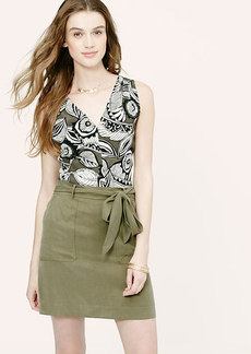 Petite Abstract Floral Twist Back Shell