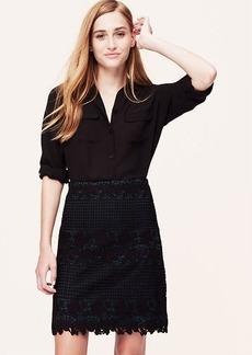 Petite Blue Underlay Lace Skirt