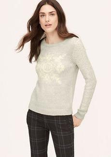 Petite Brushed Snowflake Sweater