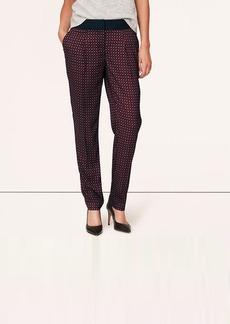Petite Burgundy Deco Fluid Ankle Pants in Marisa Fit